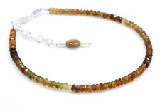 Natural Tourmaline Pearl Bracelet Beads Sterling Silver Jewelry Gift 3 mm 7.5""