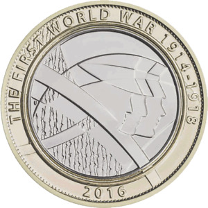 2016 £2 World War One 2 Pound Coin FREE DELIVERY