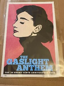 Gaslight Anthem 59 Sound 10th Anniversary Tour Poster Brian Fallon