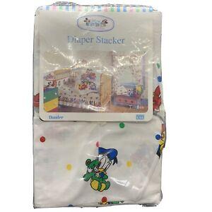 Disney Baby Mickey Collection Diaper Stacker Vtg Donald  Duck Pluto NIB