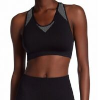 Ivy Park Womens Sports Bra Black Size XXS/ XS Mesh Unpadded Racerback $68- 088