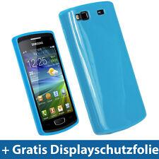 Blau TPU Tasche für Samsung Wave 3 S8600 GT-8600 Bada Schutz Hülle Hydro case