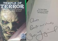 Temple of Terror ***SIGNED BY IAN LIVINGSTONE!!*** Fighting Fantasy Wizard
