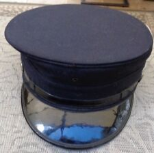 "Vintage Firefighter's Traditional 3"" Tall Blk Dress Hat w/Silver FD Buttons 23"""