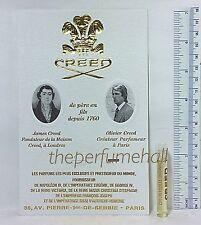 Creed Chevrefeuilles Original Sample vial Honeysuckle Discontinued edp