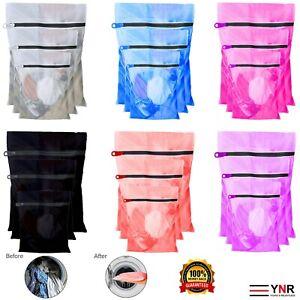3x Laundry Washing Mesh Net Zipped Lingerie Underwear Bra Socks Clothes Wash Bag