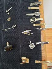 Estate Vintage Men's Cuff links, Tie Clips & Tie Tacks Costume Jewelry Lot of 12