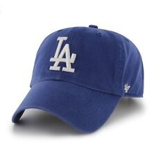 Los Angeles Dodgers LA 47 Brand Strapback Adjustable Dad Cap Hat Royal Clean Up