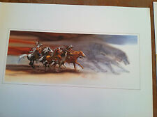 Bev Doolittle WOLVES OF THE CROW print WSS portfolio Item 7 info sheet included