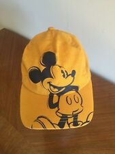 Disney Mickey Mouse Mustard Color Baseball Cap Adjustable