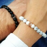 Queen King Couples Matching Bracelets His and Hers Relationship Distance Promise