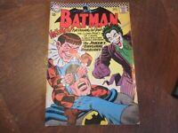 BATMAN #186 Nov 1966 KEY 1st Appearance Gaggy! JOKER Cover and Story MID!!