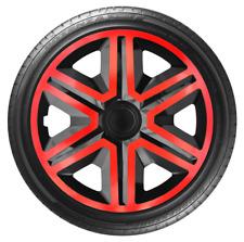 """4x Wheel Covers Hub Caps 16Inch Universal Wheel Trims ABS 16"""" Trim [AKTNRED]"""