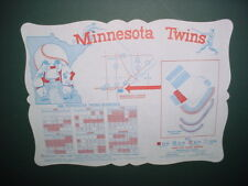 vintage 1969 Minnesota Twins baseball schedule place mat MN Metropolitan Stadium