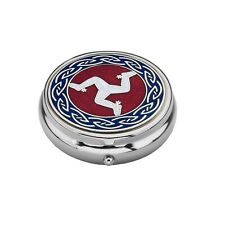 Pocket / Handbag Size Manx and Celtic Knot Design Pillbox (8895)