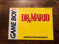 Nintendo Game Boy Dr. Mario Video Game Manual Booklet ONLY NES