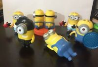 6 CT Despicable Me Minions McDonalds Toys Action Figure Happy Meal Toy  EUC