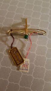 vintage Krementz gold overlay Dragon fly brooch