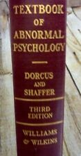 VintageTextbook Of Abnormal Psychology 3rd Edition Hardcover Dorcus & Shaffer