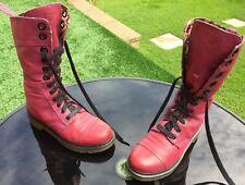 Dr Martens 1914 TRIUMPH Purple Broadway Floral leather boots UK 7 UE 41