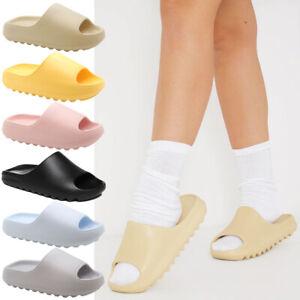 Ladies Slip On Ultra Soft Sliders Mules Summer Sandals Women Beach Slipper Shoes