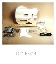 Telecaster Style Electric Guitar E-218DIY Complete NO-SOLDER DIY Kit w/Gift Pack