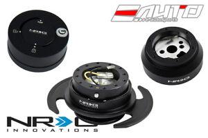 NRG Steering Wheel Short Hub SRK-170 / Black 3.0 Quick Release / Matt Lock b