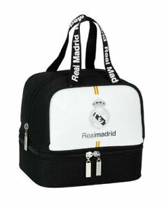 Real Madrid Lunch Bag With Separate Bottom 100% Official FCRM