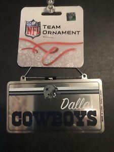 Dallas Cowboys NFL Mini Metal License Plate Christmas/Holiday Ornament *New*