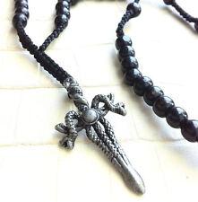 Cruz cadena cuerno rosario serpiente Surfer cartucho Dog Tag Snake Rosary snk1