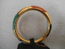 REDUCED LOVELY ESTATE ONYX JADE TIGER EYE & CARNELIAN ORIENTAL BANGLE SILVER 925