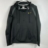 Nike 1/4 Zip Hoodie Pullover Gold Threaded Swish Unisex Size Small