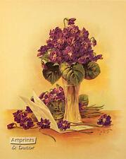 Violets by Paul de Longpre (Art Print of Vintage Art)