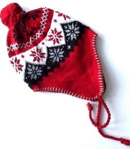Unisex/Womens/Mens Fair Isle/Inca Winter Trapper Hat Fleece Lined Bobble Beanie