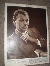Photo article actor Joseph Cotten 1948 rf K