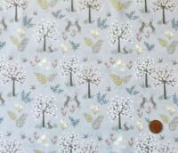SALISBURY SPRING ON LAVENDER BY LEWIS & IRENE - COTTON FABRIC FQ'S