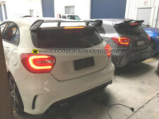 W176 a class amg style black spoiler A250 A45 AMG-revo wing lip gt carbon bar
