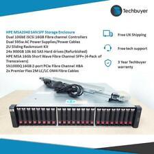 HPE MSA2040 San SFF gabinete de almacenamiento de información 16GB FC - 24 X 900GB unidades-C8R10A