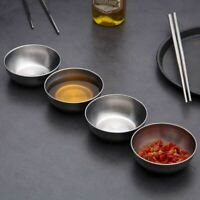 Small Stainless Bowl Soy Sauce Dish Dessert Small Dish Dip Ray Seasoning Dish