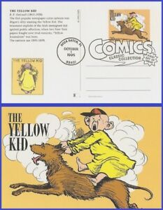USA5 #UX221 U/A FLEETWOOD FDC   Comic Strip Classics - The Yellow Kid