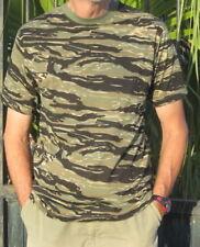 Magliette da uomo neri mimetici manica corti
