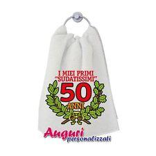 Asciugamano compleanno 50 anni un regalo spiritoso e originale