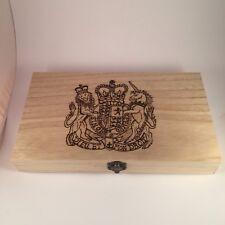 Colección de Monedas Personalizado wooden case Regalo