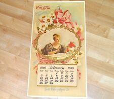 Coca-Cola calendrier 1899 usa Coke Calendar reproduction de 1973