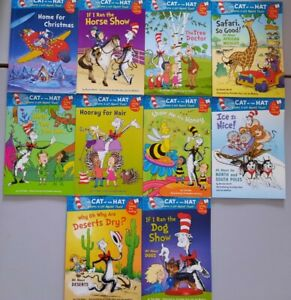 CAT IN THE HAT - I'm ready for reading books, set of 10 reading beginners FREEPP