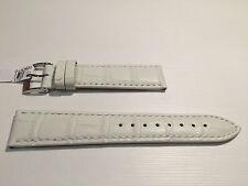New - White Leather Strap - 20 mm - Correa Piel Blanca - Bolle Alligator Calf