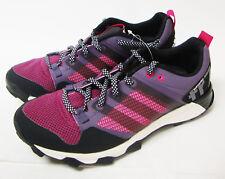 J3921 New w/Box Women's Adidas Kanadia 7 TR W Running Shoe Blk/Purp 9.5 M