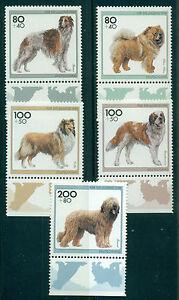 GERMANY SCOTT #'s B792-B796, DOGS, 5 VALUES, MINT, OG, NH, GREAT PRICE!