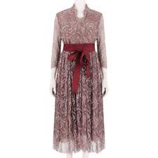 Alexander Terekhov Luxurious Mulberry Purple Ivory Embroidered Dress IT44 UK12