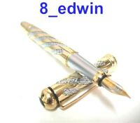 Beautiful Rich Gold overlaying Silver Fountain Pen 765J
